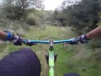 Riding hardtail at local trail