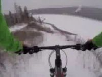 Winter mountain biking in Fort McMurray
