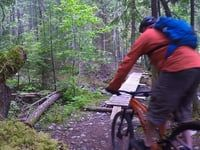 Kaslo Mountain Biking  River trial