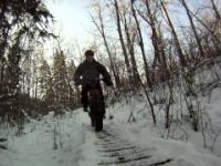 Fatbiking Winter Bridge Fun on the Golddigger...