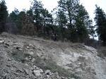 Drop onto shale rock
