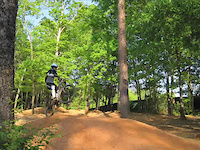 Biking at Country Park Greensboro, NC