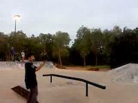 back flip at skate park