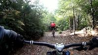 Nick riding Rowdy Creek Trail