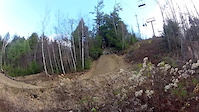 Riding Trains at Highland Mountain Bike Park