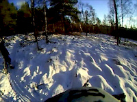 snowy ride in Grantown with Josh