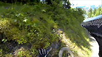 Schladming WC DH track step up crash