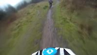 Ae downhill (very wet & windy)