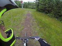 Riding my Kona Stinky Dee at Vallåsen
