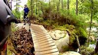 XC riding at Vallée Bras-du-Nord (trail: La...