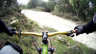 wet rocks and ride-kolivata trail lefkada