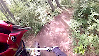 Alain going Downhill in 7UP HitUP Trail