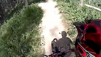 Downhill Mountain Biking  in Flow Master Trail...