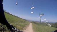 Crash on Collector at Blue Mountain Bike Park...