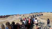 Tandem Mountain Bikes Race Dual Slalom