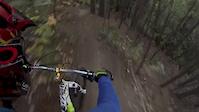 ALain going Downhill Mountain Biking in...
