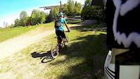 Ridgeline trail at Sugarloaf Bike Park