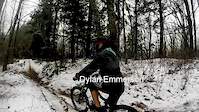 freeride downhill in snow