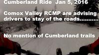 Night Ride in Fresh Snow   Jan 5 , 2015