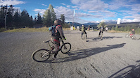 GoPro: B Line Trail with Friendly Bikers at...