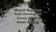 Asian Adonis in the snow - Mount Seymour Jan...