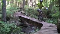 9 year old mountain Unicyclists on Squamish XC...