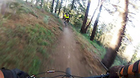 Downhill Mountain Biking Action. Extremely...