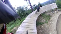 A couple laps at Highland MTN Bike Park