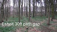 Esholt 30ft path gap
