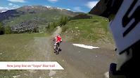 Verbier Bikepark headcam 2013 - New jumps line...