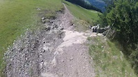 Non - Stop Run on Hang Man 1 In leogang DH FR