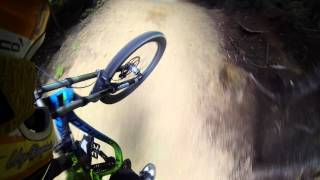 MTB Downhill Super Slow motions RAW Drifts -...