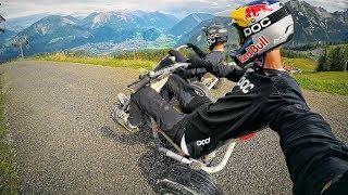 Real Life Mario Kart down a mountain...
