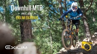 Downhill MTB with the EXILIM EX-FR100 in Tenerife