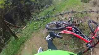 GoPro: Bike crash into a barbed wire