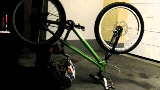 Awesome Stunt riding on a bicycle