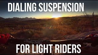 50 Year Trail - Tweaking Suspension for Light...