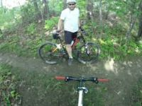 Biking Etobicoke Trail Adam and Yuri