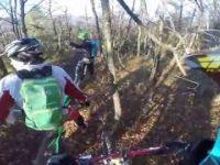 Test di alcuni passaggi sul Trail 'La cava'