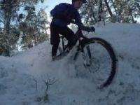 Gömmaren svart/vita (typ) i snö