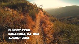 Sunset Trail Mountain Biking, Pasadena CA -...