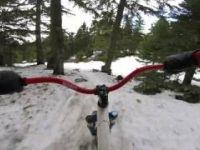 Snowbike trail ride