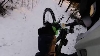 22.03.2017 part 2  getting stuck in the snow