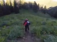 Lithium Trail on the Teton Pass with 9 year...