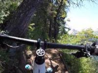 Mountain biking South Shore of Jenkinson Lake,...