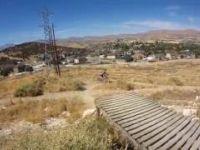 Mountain Biking off the 220 Drop in Eagle...