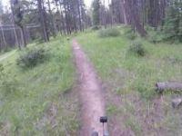 Banff Mountain Biking: Renz-Ton trail, June...