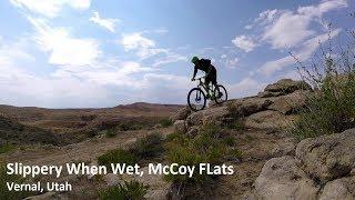 Utah MTB Trail Slippery When Wet, McCoy Flats,...