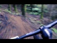 Mountain Biking on Single Track - Dropping...