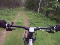 Cykling nedför Södra Vålberget